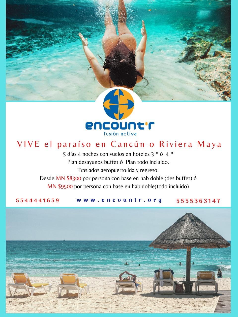 Viaje a Cancún o Riviera Maya